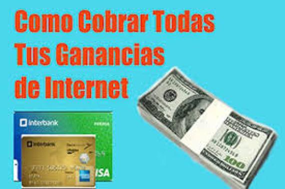 Cómo cobrar las ganancias por Internet
