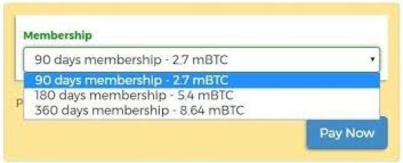 BTCClicks Membresía
