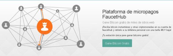 FaucetHub Recibir criptomonedas de otras páginas