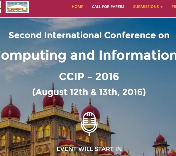 Second International Conference – CCIP 2016