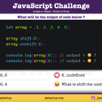 JavaScript Quiz - Find value after using array shift and unshift