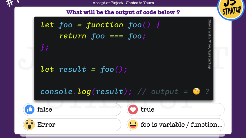 JavaScript Quiz – Is the calling function inside function are equal