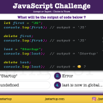 JavaScript Quiz - can delete operator delete a global variable