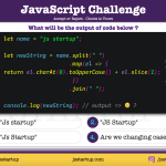 JavaScript Quiz - can it uppercase the string first letter - JS Startup