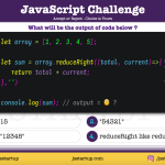 JavaScript Quiz - can reduceRight method really sum an array elements-JS Startup