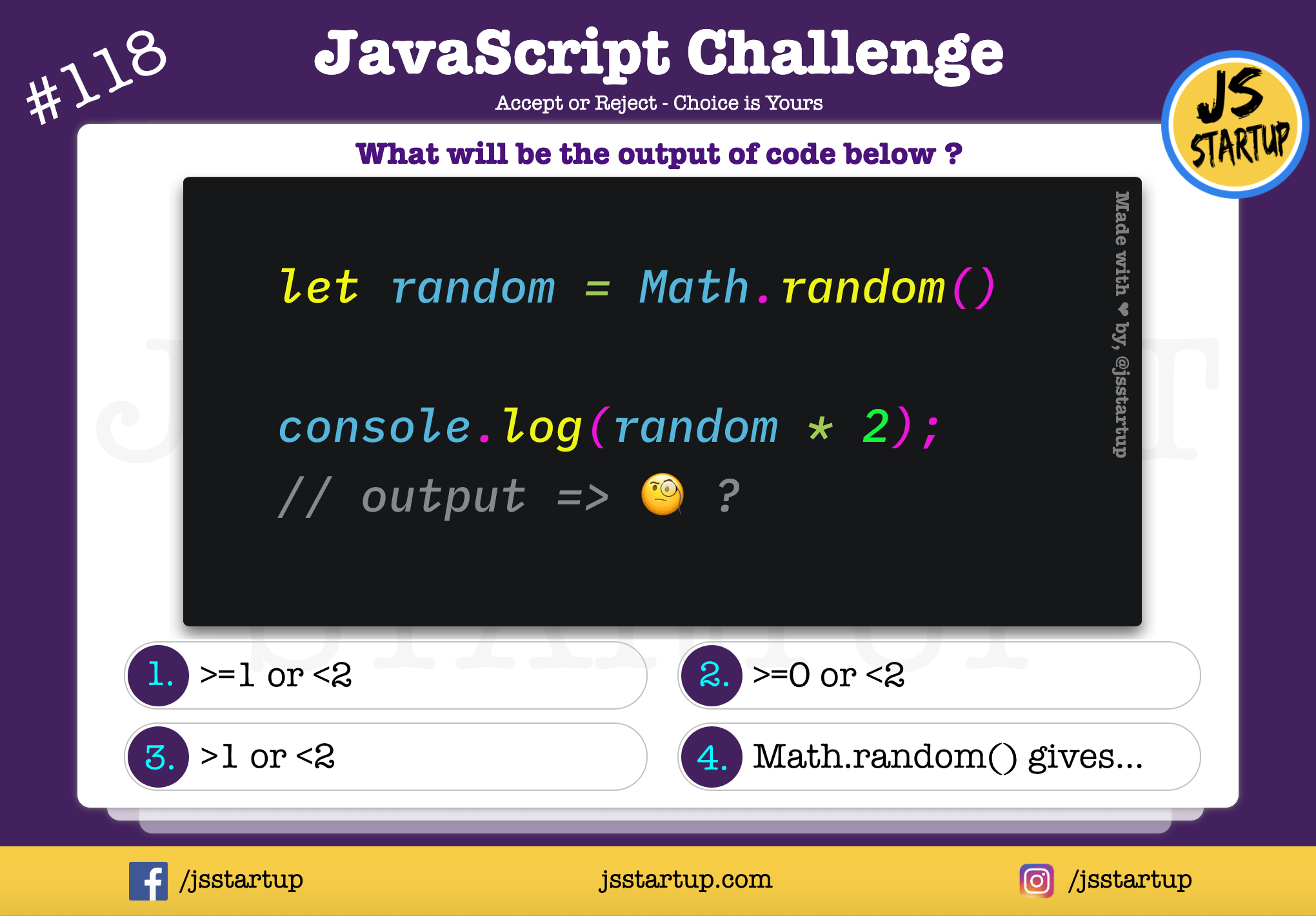 JavaScript Quiz – what is the math random function range