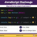 JavaScript Quiz - does false compare with false return false - JS Startup
