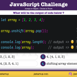 JavaScript Quiz - does it shift array element to the right - JS Startup