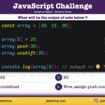JavaScript Quiz - what really is the array index value - JS Startup