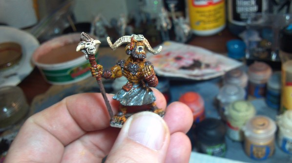 Bugbear Shaman hand painted miniature. Click to Enlarge.