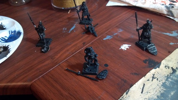 Some old metal miniatures. Click to Enlarge.
