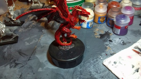 This is after a second heavy coat of black gesso on the base. Click to Enlarge.