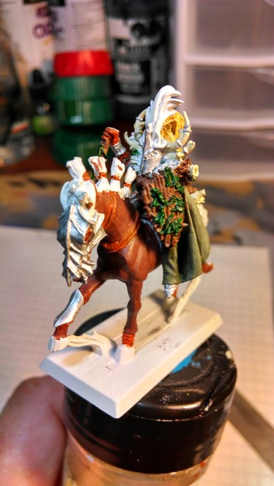 Hand Painted Miniature; Mounted Druid WIP
