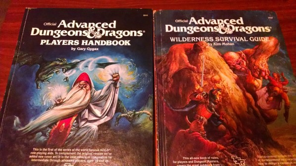 AD&D Player's Handbook and Wilderness Survival Guide. Click to Enlarge.