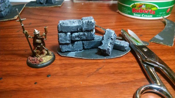 Ruins walls terrain with trimmed bases. Click to Enlarge.