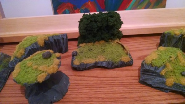Hedge Row Terrain Piece. Click to Enlarge.