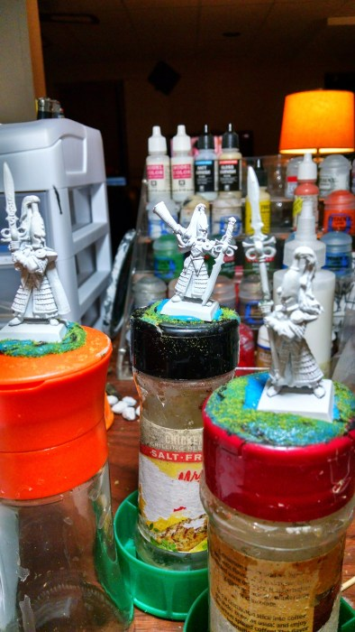 Primed, unpainted High Elves. Click to Enlarge.