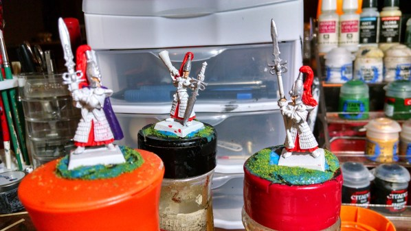 High Elves, WIP shots March 2015. Click to Enlarge.