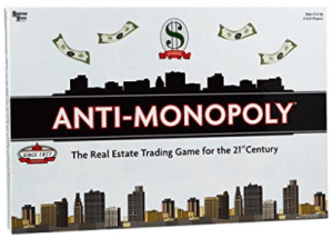 Anti Monopoly Board Game.