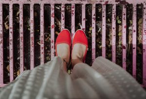 Wearing Red shoes