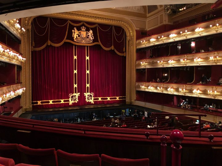 Inside the Royal Opera House in London