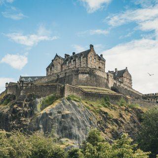 Castle in Edinburgh in Scotland