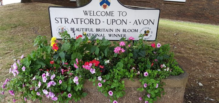 Sign of Stratford Upon Avon in England