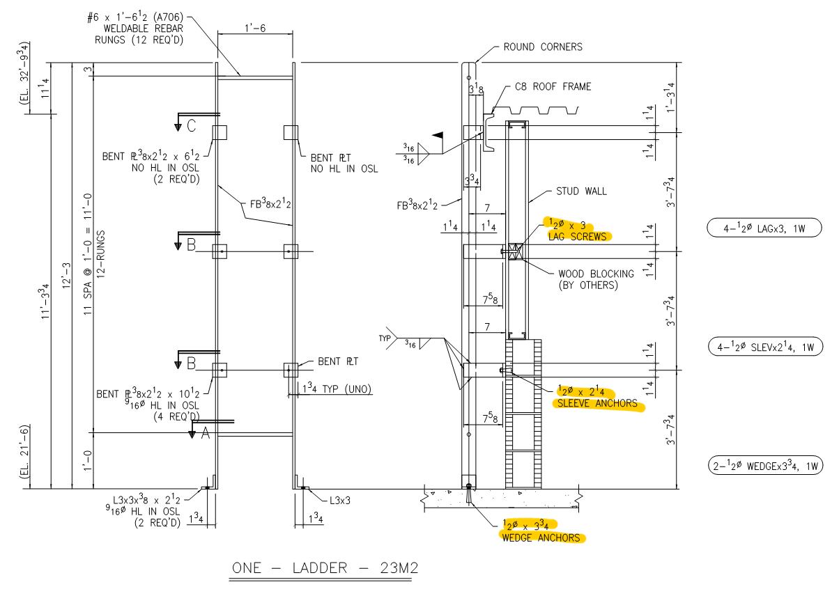 Steel Detailing Connecting To Nonsteel Surfaces Jsteel