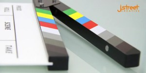 Construction business video cinema shutter image