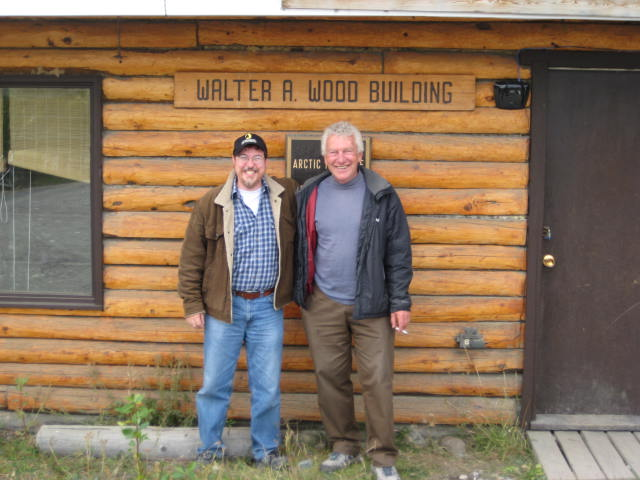 Me and Andy Williams, Camp Manager and Head Pilot, Kluane Lake Research Station