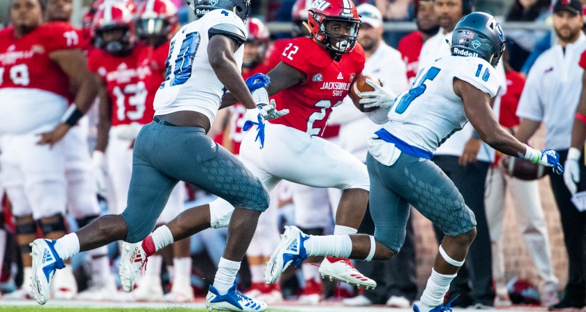 Jacksonville State won in a narrow 28-20 victory against Eastern Illinois. (Matt Reynolds/JSU)