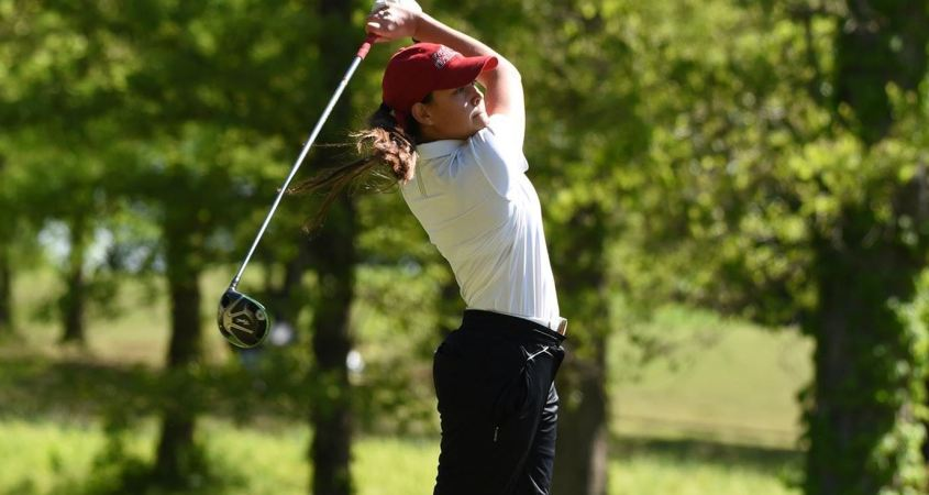 Sophomore Claire Vermette is in the lead after the first day of the Palmetto Classic on Sunday. (Photo courtesy of JSU Athletics)
