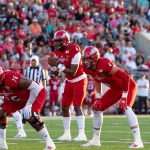 Quarterback Zerrick Cooper ready to have the ball snapped to him in the 2019 game against UNA that ended in a win for the Gamecocks. (Courtesy of JSU)