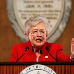 Alabama Governor Kay Ivey, pictured, declared a state of emergency for all 67 counties in Alabama due to widespread flooding. (Brynn Anderson/AP)