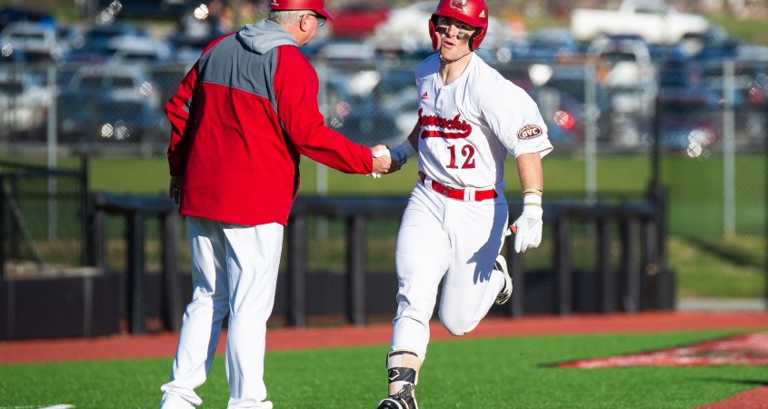 Jacksonville State University's pitcher and pre-season All-American Alex Webb runs the bases in an earlier matchup against Southeastern Missouri on February 14, 2020 where Webb recorded two home-runs for the Gamecocks. (Courtesy of JSU)