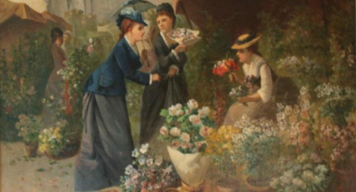 SOLD: French Flower market – G.Julliard