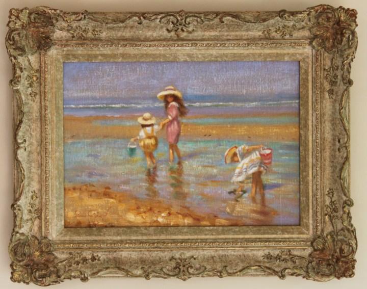SOLD: Children paddling in the sea – Rene Jerome Legrand