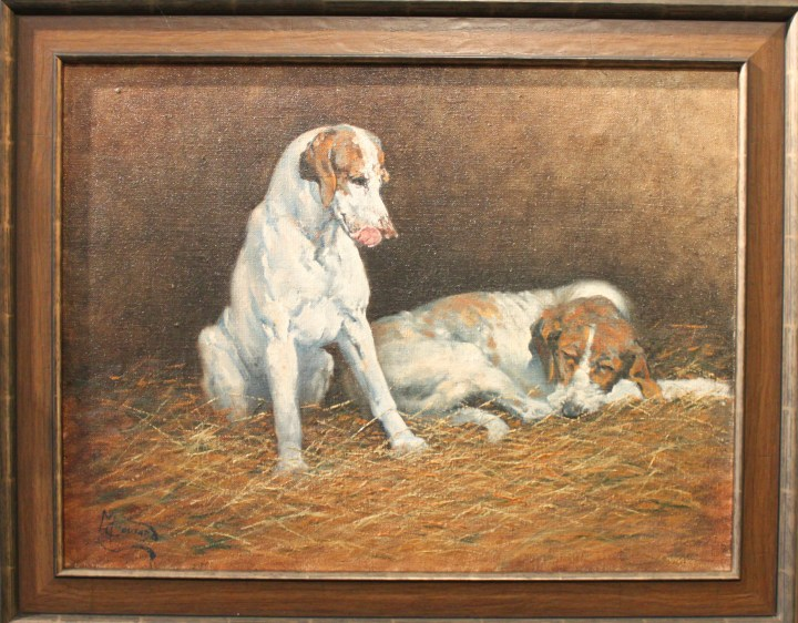 SOLD : Two Hounds by Malcolm Coward