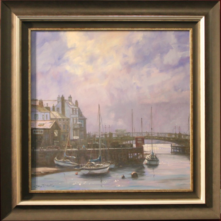 SOLD: Whitby Harbour – John Trickett