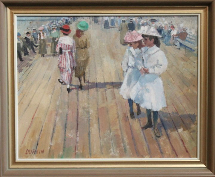 Edwardian girls on pier – tom durkin