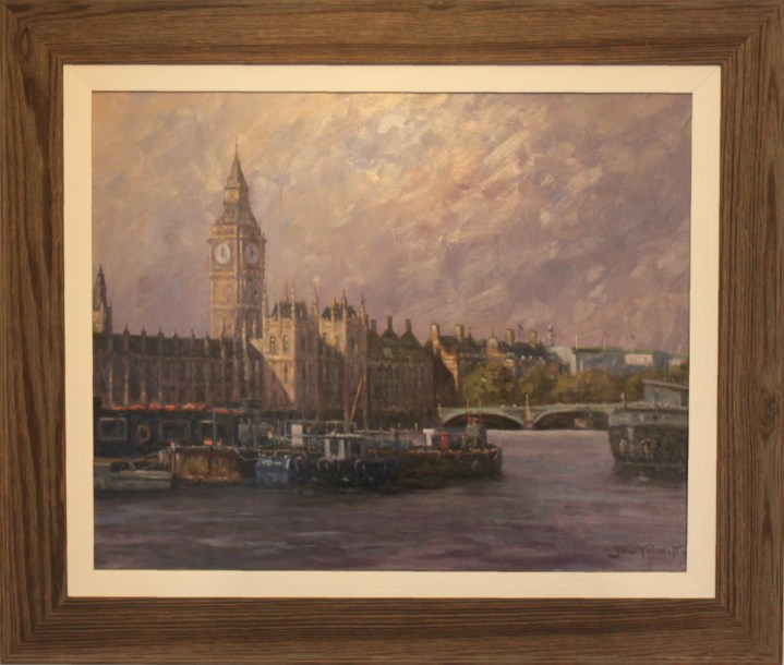 Houses of Parliament from River Thames – John Trickett