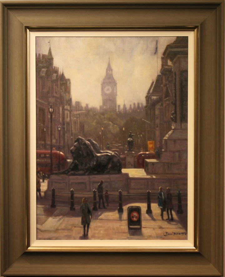 The lions in Trafalgar Square – John Trickett