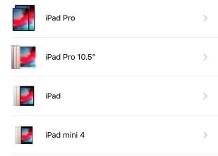 2018 iPad Line up