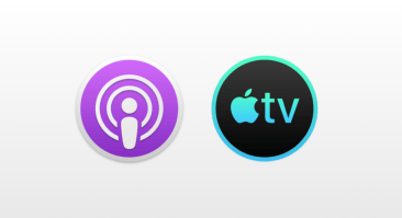 The new Mac icons for Podcast and Tv