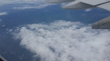 floating by the clouds