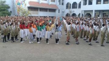 JS Yog Training in Somalwar School (Khamla) for International Yoga Day June 21, 2015