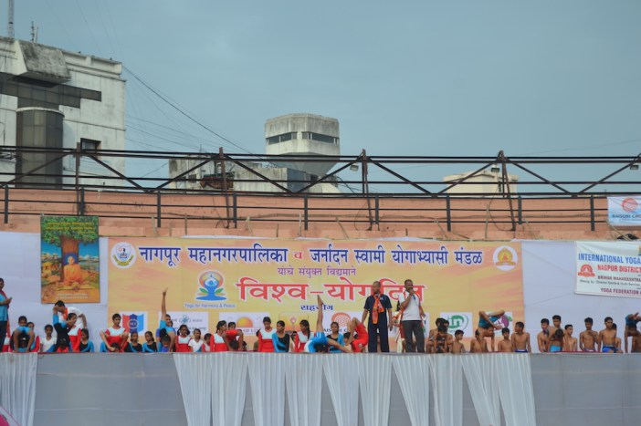 21st June JS Yog International Yoga Day Yashwant Stadium, Nagpur CM Devendra Fadnavis Union Minister Nitin Gadkari_55