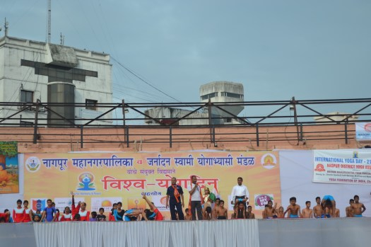 21st June JS Yog International Yoga Day Yashwant Stadium, Nagpur CM Devendra Fadnavis Union Minister Nitin Gadkari_57