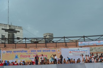 21st June JS Yog International Yoga Day Yashwant Stadium, Nagpur CM Devendra Fadnavis Union Minister Nitin Gadkari_60