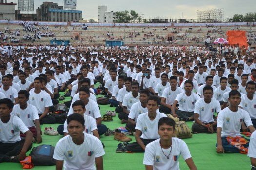 21st June JS Yog International Yoga Day Yashwant Stadium, Nagpur CM Devendra Fadnavis Union Minister Nitin Gadkari_85